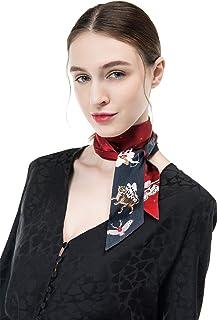 COLD POSH 100% Silk Skinny Scarf Neckerchief for Women Hair Scarf Headbands,Fashion Accessory