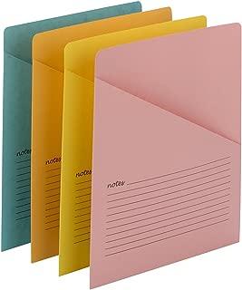 Smead Organized Up Notes Slash File Jacket, Letter Size, Assorted Colors, 12 per Pack (75427)