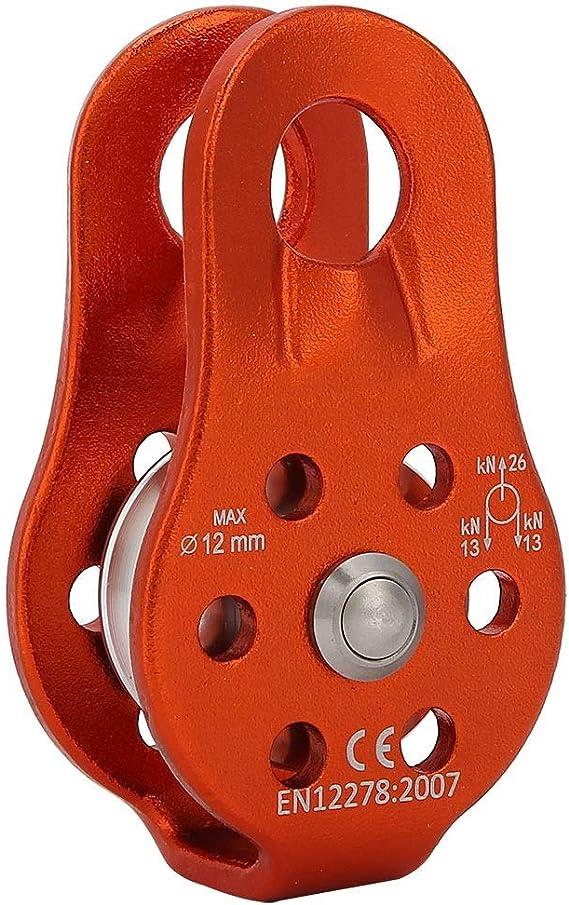 MAGT Polea de Escalada - Bloque de Polea de Cuerda Giratoria Simple de Aleación de Aluminio 26KN para Escalada de Cuerda de 12 Mm