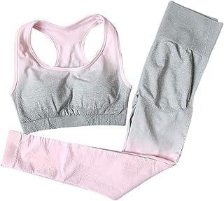 koolsoo Women's Bra Top And Leggings Sportswear Set, 2 Pieces/Set Tracksuit High