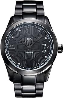 JBW Luxury Men's Bond 9 Diamonds Classic Black Ion Watch