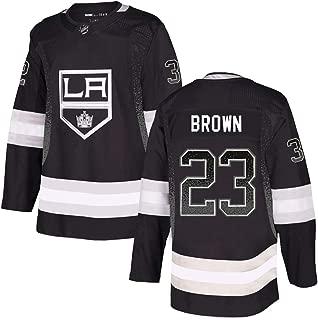 Reebok Men's DustinBrown #23 Black Los Angeles Kings Limited Stitch Jersey
