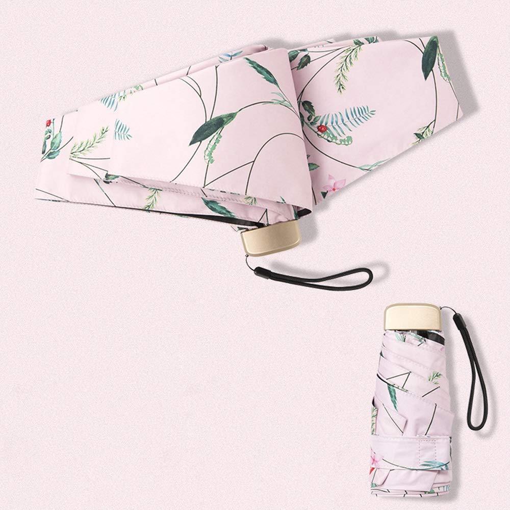 Paraguas plegable de viaje Paraguas plegable manual Ligera apertura y cierre de 6 huesos fuertes a
