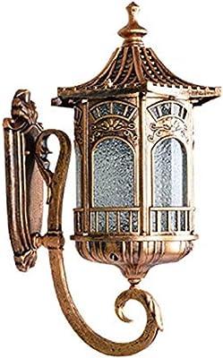 FFLJT Design Applique Murale Industriel Vintage Rustique Style Rétro Intérieur Applique Murale Extérieure Bar Loft Cage Avec Ampoules