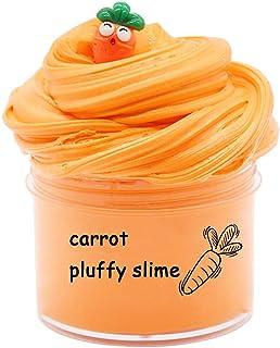 BESTZY Moelleux Carotte Nuage Slime 2020 Date 200ML fée Mastic soulagement du Stress Jouet Fluffy Slime Pastèque Parfumé P...