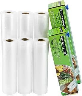 KitchenBoss Vacuum Sealer Rolls 6 Pack 8