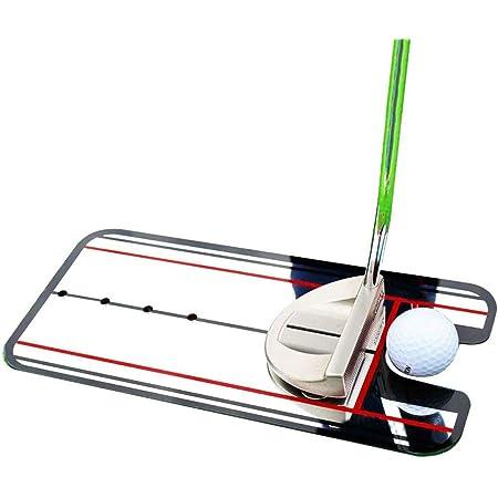 monoii パター練習 パター ゴルフ パッティング 練習 マット 練習器具 パターマット ミラー b003