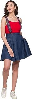 Globus Blue Solid Skirt