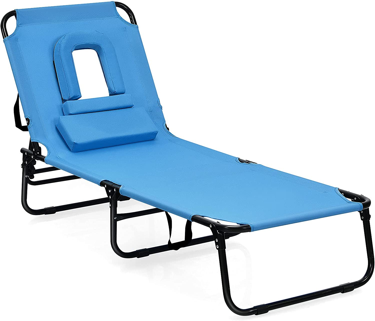 Goplus Folding Lounge Chair for Patio Poolside Beach Balcony Po Limited time sale New product!!