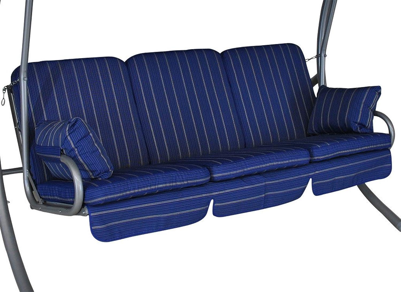 Angerer Comfort Schaukelauflage 3-Sitzig Design Faro, blau, 180 x 50 x 60 cm, 785 025