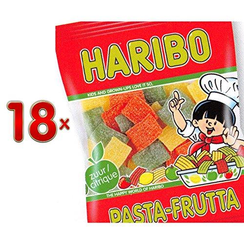 Haribo Pasta Frutta Citric Sachet 18 x 200g Packung (saure Fruchtgummistreifen)