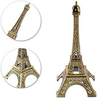 Oulensy del Tono de Bronce de la Torre Eiffel Estatua de la Figura Modelo de la Vendimia Decoraci/ón de aleaci/ón de 13 cm
