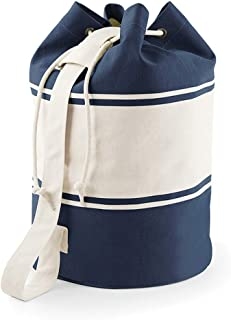 Quadra Canvas Duffel Bags - 30 Litres (UK Size: One Size) (French Navy/Off White)