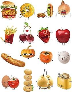 decalmile Vinilos Cocina Comida Emoji Pegatinas de Pared para Cocina Infantiles Bebés Ventanas