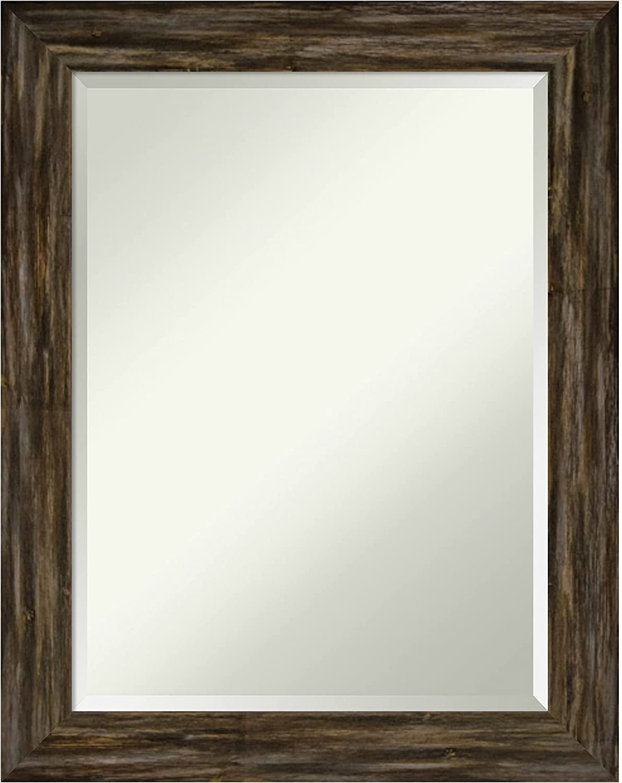 Amanti Art Wood Bathroom Wall wholesale Mirror 28.6 22.6 in. Fencepos Trust x
