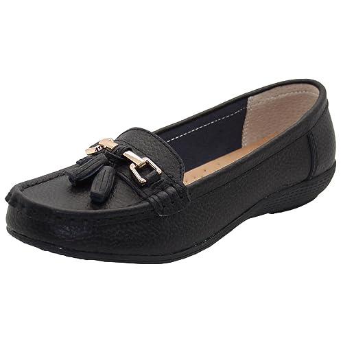 91cb5af3f93f9 Women's Black Leather Shoes: Amazon.co.uk
