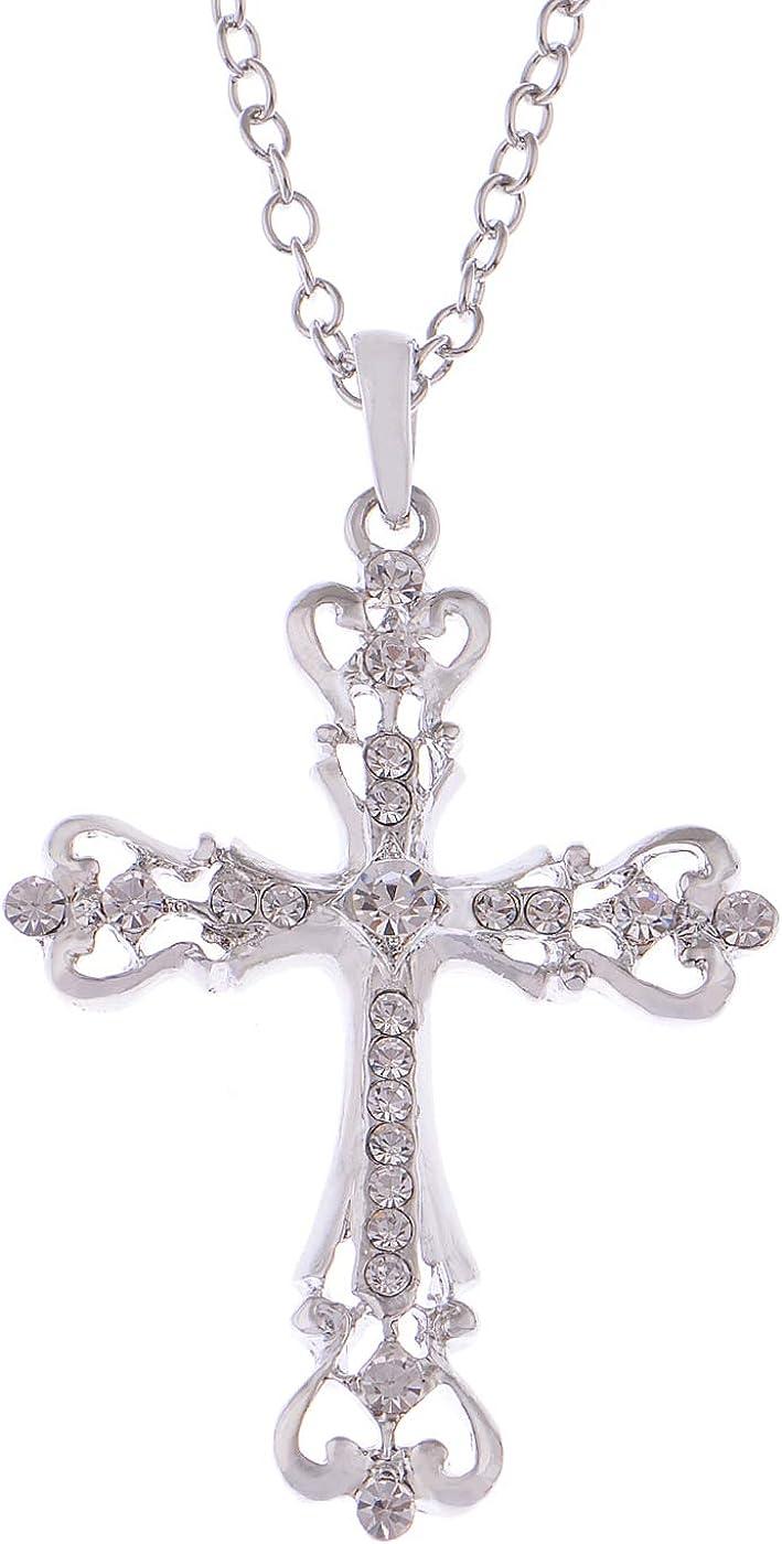 Alilang Womens Black Ranking TOP19 Silver Clear Hol Sale item Crystal Rhinestones Celtic