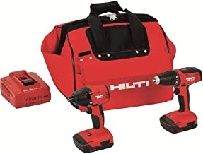Hilti 3487032 18-Volt Lithium-Ion Cordless Drill Driver/Impact Driver Compact Combo Kit
