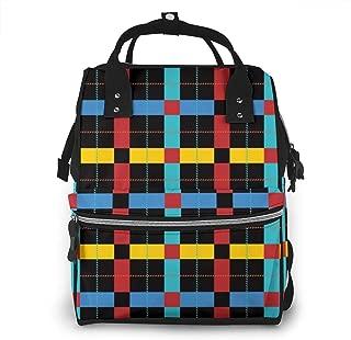 Pnw Pike Plaid Multi-Function Travel Backpack Nappy Bag,Fashion Mummy Bag