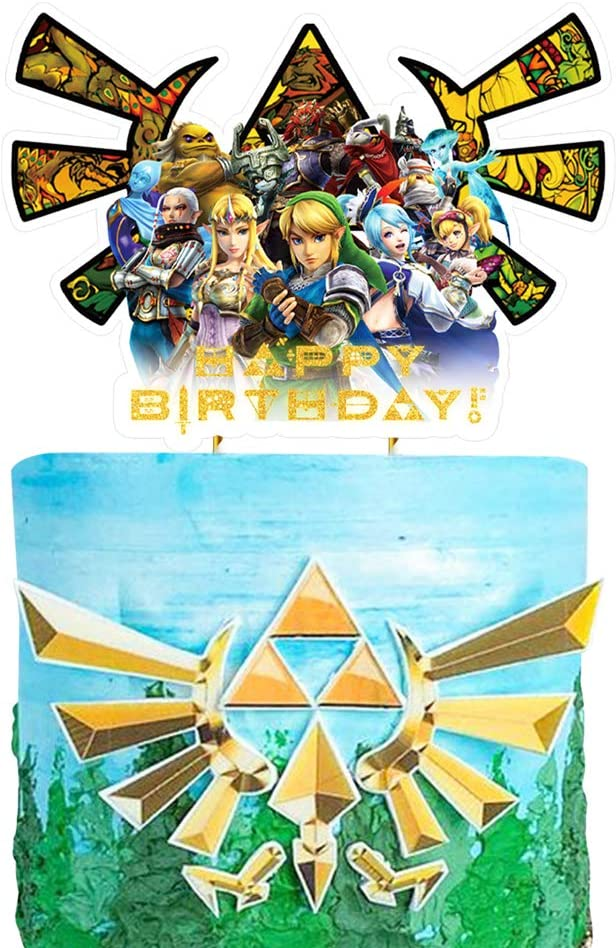 Party Supplies for Zelda Cake Topper Game Theme Birthday Supplies Favors
