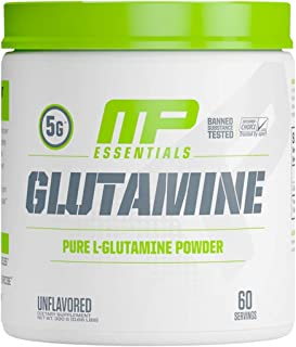 MP Essentials 100% Pure Glutamine Powder, Muscle Growth and Recovery, L-Glutamine Powder, Promotes Recovery after Intense Exercise, Helps Repair Muscles, MusclePharm, 300 g, 60 Servings