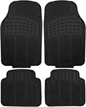 OxGord 4pc Set Tactical Heavy Duty Rubber Floor Mats- Black