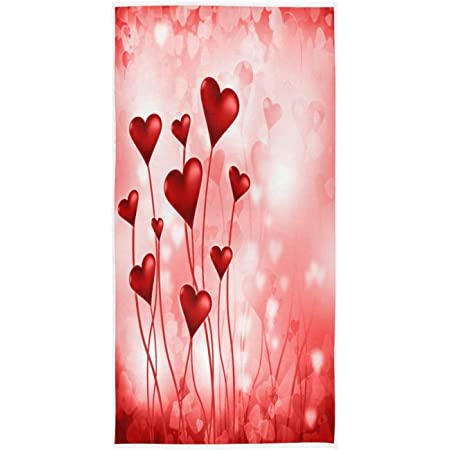 Embroidered Bathroom Hand Towel Valentine/'s Day Square Love Theme HS0725