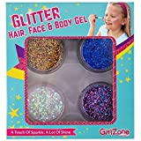Purpurina Cara - Gel de maquillaje con Purpurina para disfraz y pintacaras- Set de 4...