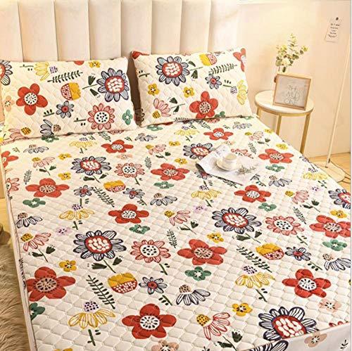 XLMHZP Colchas Lisas,Funda de colchón tamaño Queen Color Rosa Acolchado Grueso Protector de colchón Fundas King Mattress Pad-Y_120x200cm + 30cm (1pcs)