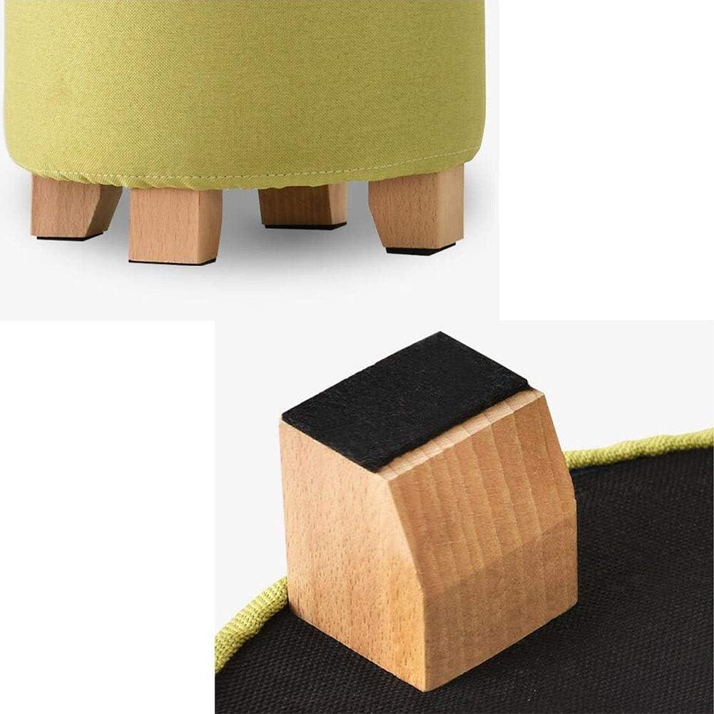 DALL Tabouret Tabouret De Porte Tabouret Canapé Bois Moderne Rembourrés Lavable Amovible Couloir Chambre Le Salon 29x29x35cm (Color : Gray) Green