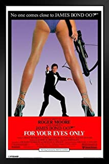 Pyramid America James Bond for Your Eyes Only Black Wood Framed Art Poster 14x20