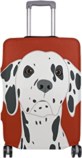 Mydaily Dalmatian Dog Luggage Cover Fits 28-29 Inch Suitcase Spandex Travel Protector L