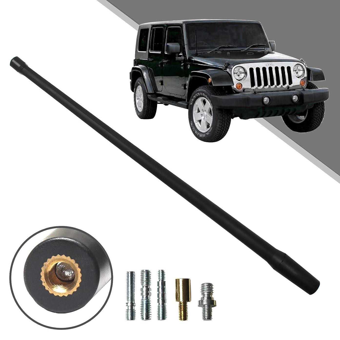 Beneges 13 Inch Flexible Rubber Replacement Antenna Compatible with 2007-2019 Jeep Wrangler JK JKU JL JLU Rubicon Sahara, Optimized FM/AM Reception.