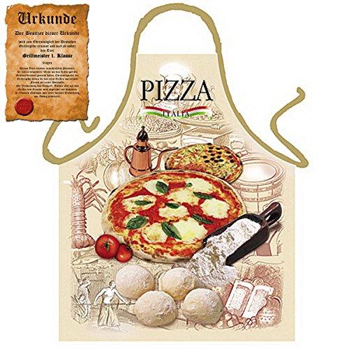 Tini - Shirts Italienische Kochschürze für Pizza Liebhaber : Pizza !! mit GRATIS Urkunde !!