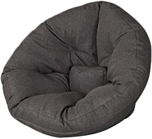 AEURX Cozy Bean Bag Chair Lazy Sofa Kids Tatami Detachable Outdoor Lounge For Games  Color Smoke gray