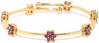 Zaveri Pearls Cuff for Women (Golden) (ZPFK6274)