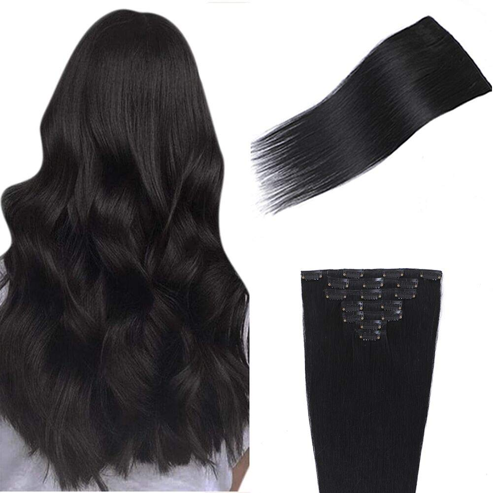 Enshang Hair 20 Albuquerque Mall Inch Extensions Straight in Selling and selling Clip Human