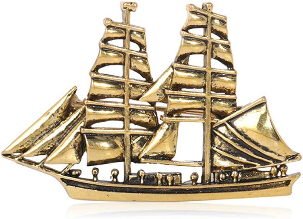 KYCPTNFJ Sailboat Shape Brooches For Women Gifts New life Gold Men Kids Raleigh Mall c