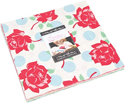 """Cheeky Layer Cake, 42-10"""" Precut Fabric Quilt Squares by Urban Chiks"""