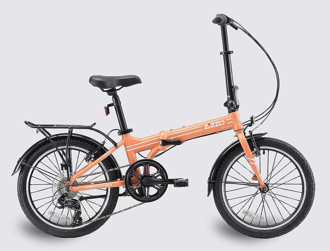 EuroMini ZiZZO Heavy Duty-300 lb. Load Limit - Forte 29 lbs Folding Bike-Lightweight Aluminum Frame, Genuine Shimano 7-Speed Gears, 20