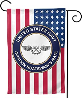 Q7yyg USA Flag US Navy Aviation Boatswain's Mate Decorative Garden Flag Home House Flag