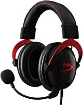 Hyperx KHX-HSCP-RD Cloud II Gaming Headset, USB, 7.1 Virtual Surround Sound, Audio Control Box, Rood/Zwart