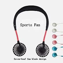 Hands-Free Neckband Fan,Hand Free Personal Fan,Headphone Design Wearable Portable USB Rechargeable Neckband Mini Fan (3 Speeds, 5-10 Working Hours) Black