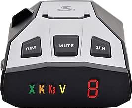 Cobra RAD 350 Laser Radar Detector: Long Range, False Alert Filter, Voice Alert & OLED Display, Black