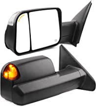Towing Mirrors Compatible for Dodge Ram, YITAMOTOR Power Heated Arrow Turn Signal Light Tow Mirrors, for 2002-2008 Dodge Ram 1500, 2003-2009 Dodge Ram 2500 3500