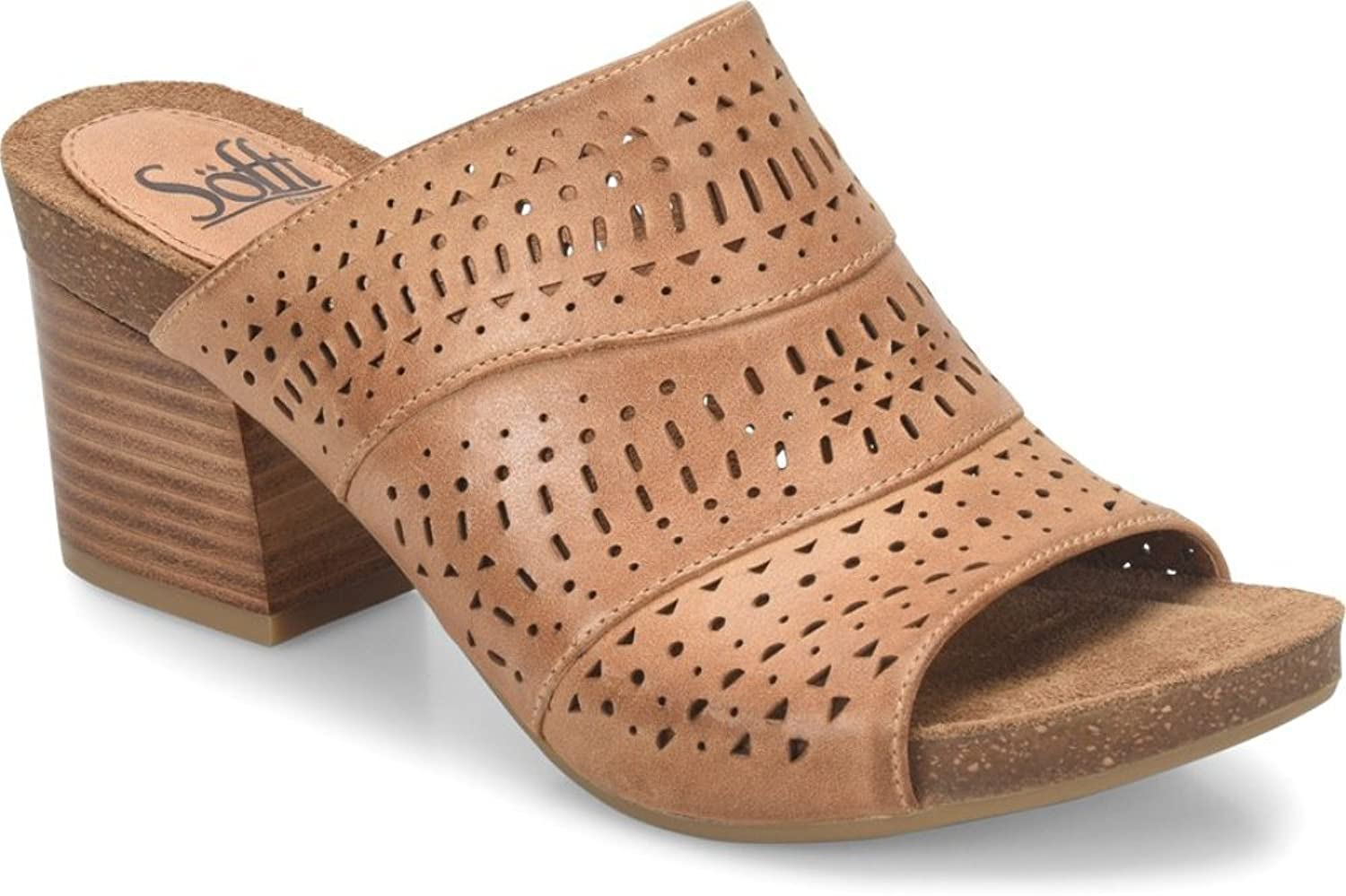 Sofft Womens Magnolia Open Toe Casual Slide Sandals, New Caramel, Size 6.5
