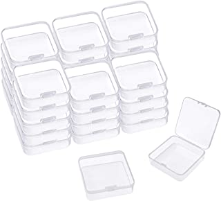 Aybloom Small Plastic Beads Storage Containers - 30 Pack Mini Clear Box Empty Case with Lid for Earplugs, Crafts, Jewelry,...