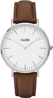 CLUSE La Bohème Round 38mm Silver Analog Display Quartz Women's Watch, Leather Band