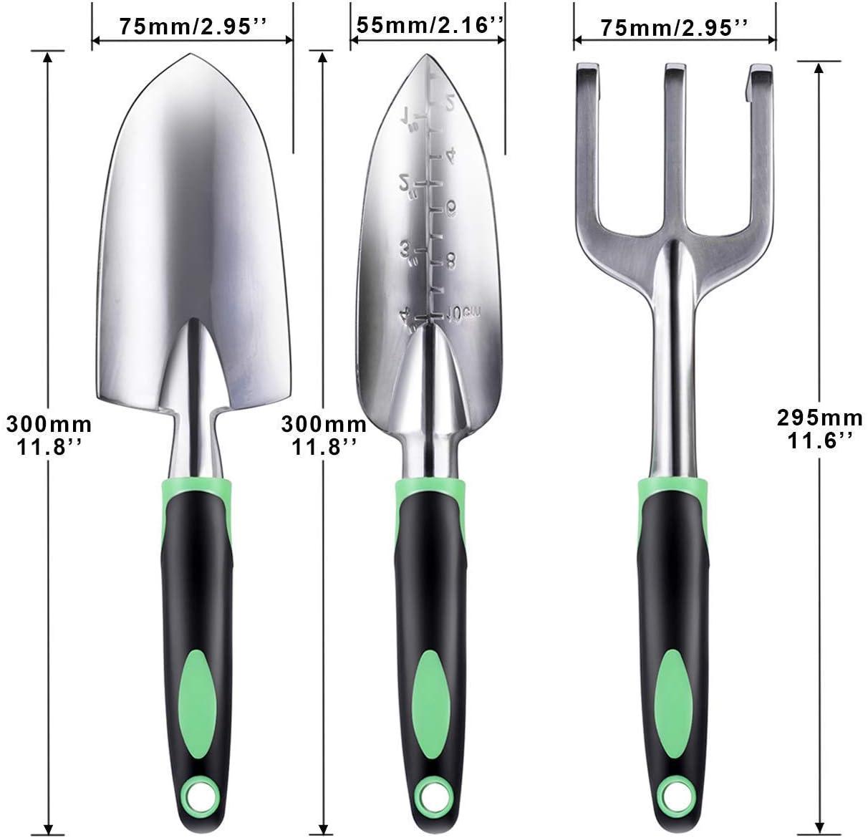 ZUZUAN Garden Tool Set Dimensions