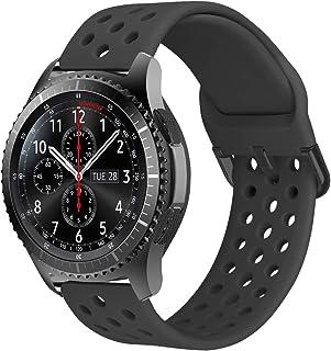MroTech Horlogeband 22mm Armband Siliconen compatibel voor Samsung Gear S3 Frontier Classic/Galaxy Watch 46mm/Huawei Watch...